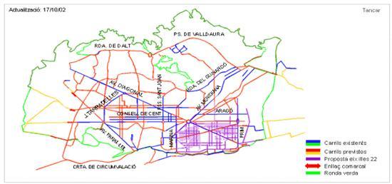 Mapa Carril Bici Barcelona.Ke 675 Es Barcelona La Ciudad Ideal Para El Lanzamiento Del